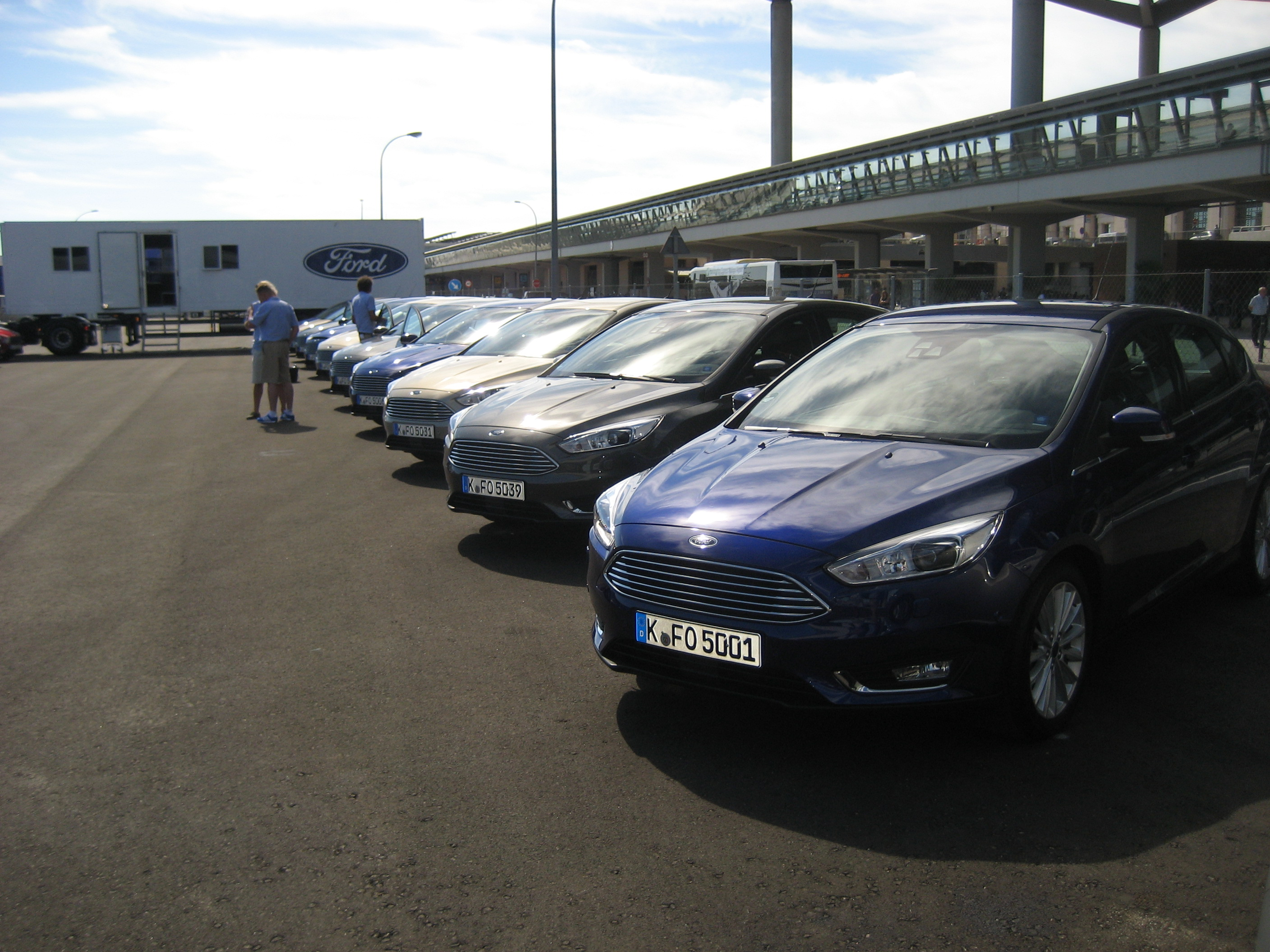 Commercial and press presentation of Ford in Malaga